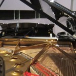 The inside of the Steinway